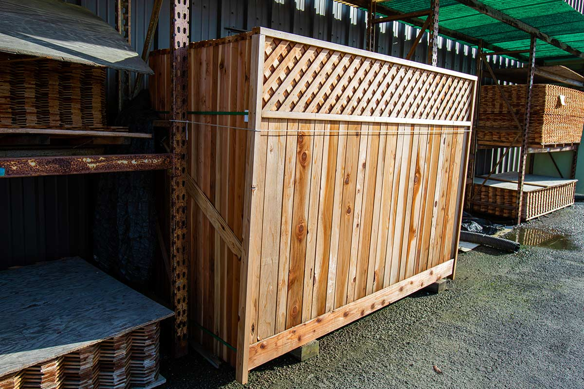 Redwood Panel Fencing